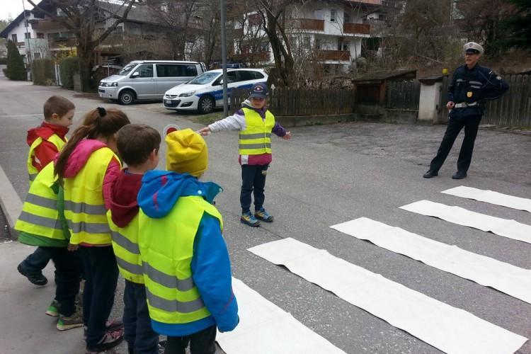 Verkehrserziehung mit der Stadtpolizei