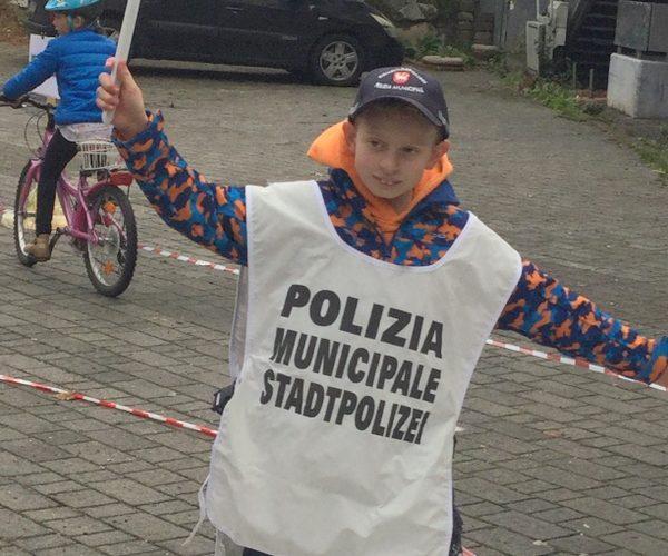 Der Fahrradparcours, ein attraktives Lern- und Trainingsangebot der Stadtpolizei Brixen