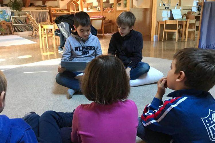 Weihnachtliches Vorlesen im Kindergarten